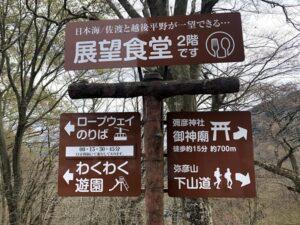弥彦山頂上神社画像