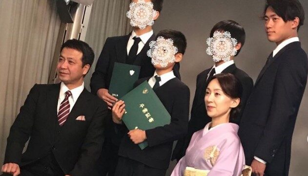 中山秀征と息子・妻・家族画像